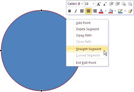 Straight Segment option Selected