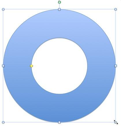 Donut shape resized to match the size of a CD
