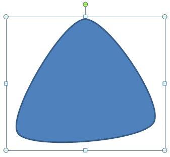 A closed shape drawn with curve