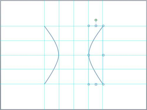 Hyperbola drawn in PowerPoint
