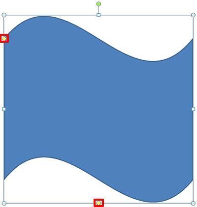 Wave shape inserted on the slide