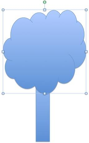 A Rectangle and a Cloud is all you need to draw a tree