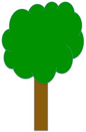 Fill colors of the shapes changed to match a tree