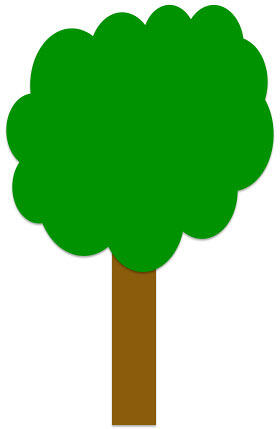 Tree drawing is ready after removing outlines