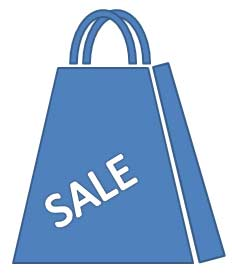 Shopping bag drawn using basic PowerPoint shapes