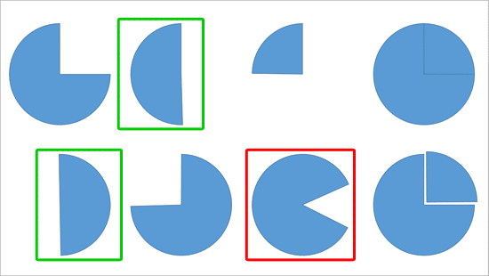 Variations drawn from Pie shape