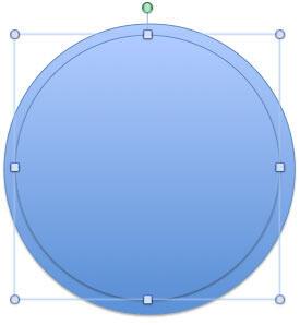 Resized duplicated circle