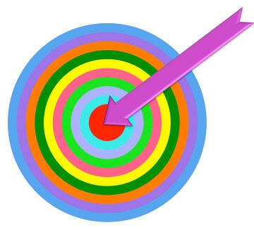 Target with arrow shape added