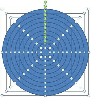 All the circle shapes aligned