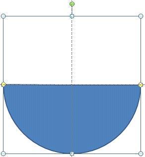 Semi-circle drawn using Pie shape