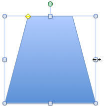 Trapezoid shape resized to match the base of a shopping bag