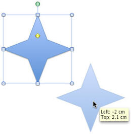 Create a duplicate of the selected shape