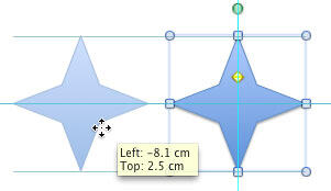 Shape copied at 180°