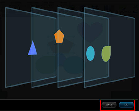Shapes overlapping the selection displayed within the Dynamic Reorder view