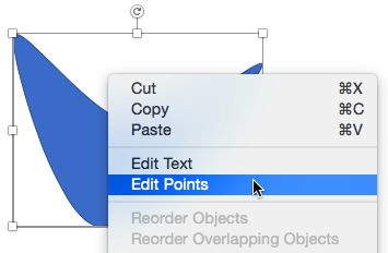 The right-click menu also provides the Edit Points option