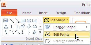 Edit Points selected