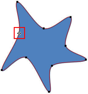Cursor with a square and four directional arrows