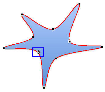 Cursor changed to a square with four directional arrows