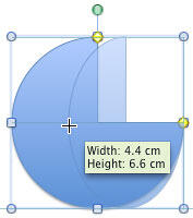 Drag the side handle towards the other end of the shape