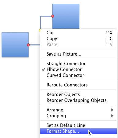 Format Shape option within contextual menu