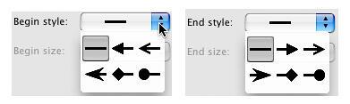 Begin and End arrowhead styles