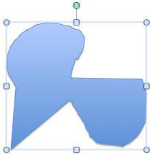 Freeform line as an open shape