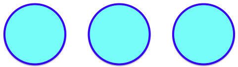 Circles with thick outline and solid fill color
