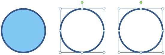 2nd and 3rd circles with fill removed