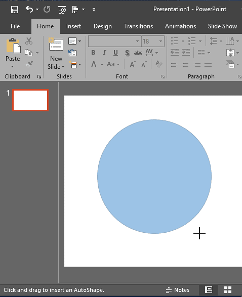 Draw a shape as large or small as you want