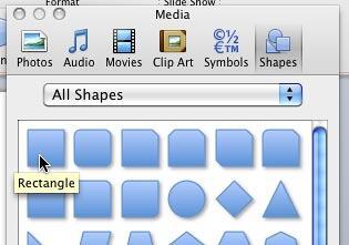 Rectangle Shape selected