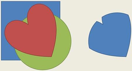 Sample showing the use of the Shape Intersect command