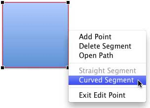 Curved Segment option selected