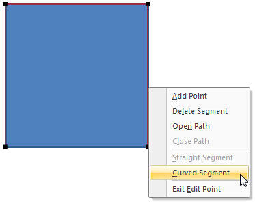 Curved Segment option