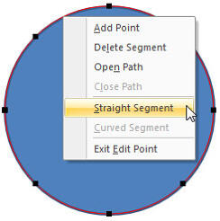 Straight Segment option