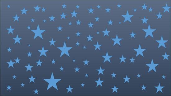 Multiple Stars on a dark blue slide