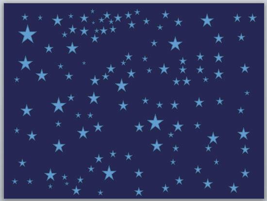 Stars on a dark blue slide