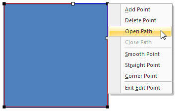 Open Path option