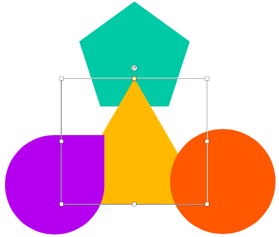 Triangle shape moved one layer up