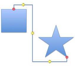 Example of a connector with more than one yellow diamond