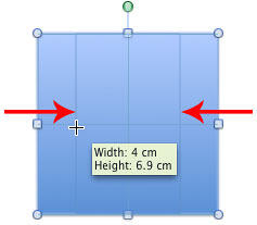 Resize shape equally from two sides at a time