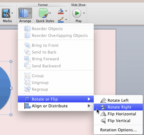 Rotate Right option