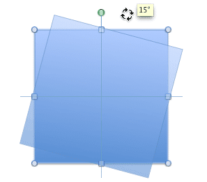 Snap rotation at 15 degree increments