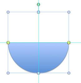 Semi-circle drawn using the Pie shape