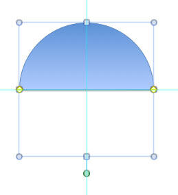 Flipped semi-circle