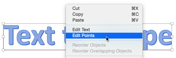 Edit Points option to be selected