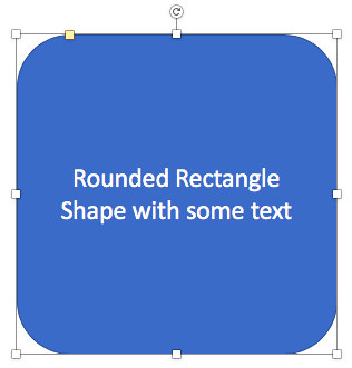More text added within the same shape