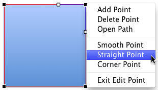 Straight Point option selected