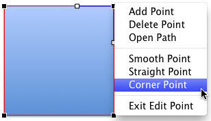 Corner Point option selected
