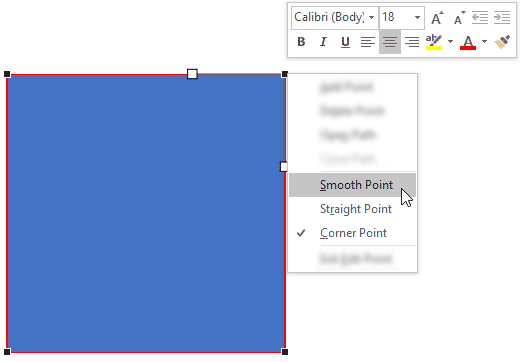 Choose Smooth Point type