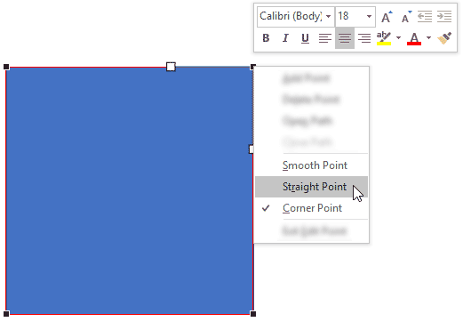 Choose Straight Point type